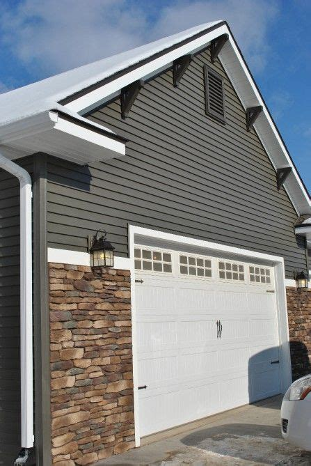 House Accents Company Gray Siding With Accents White Trim Michaud