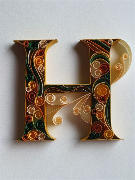 How To Make Paper Quilling Letters - paper typography on typography served quilling