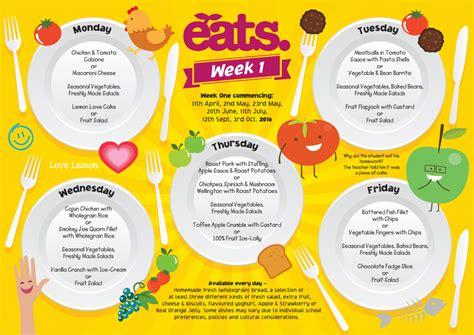 school lunch menu template 28 images of school cycle menu template printable