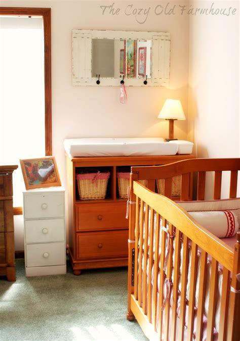 cozy  farmhouse frugal farm themed nursery decor