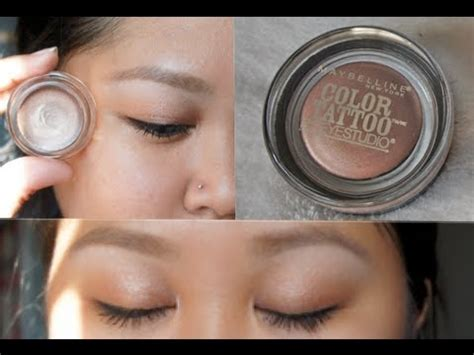 eye tattoo maybelline review maybelline color tattoo 24hr cream gel eyeshadow review