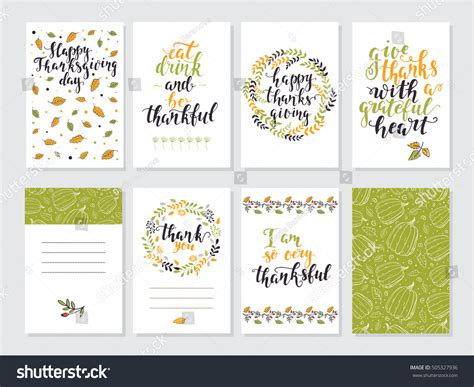 american greeting card address label template vector thanksgiving day invitation greeting card stock