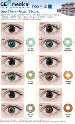 Celline 2tones geo 3tone cherry holic series soft colored contact lens that make your shine like a princess