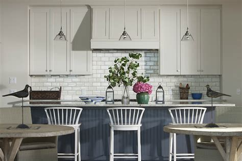 Kitchens Islands With Seating white kitchen with blue island cottage kitchen