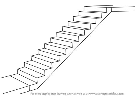 treppe zeichnen learn how to draw staircase everyday objects step by
