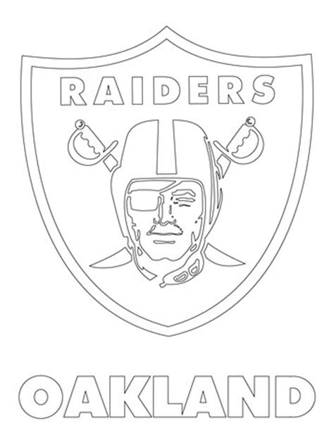 printable version logo oakland raiders coloring pages coloring page for kids