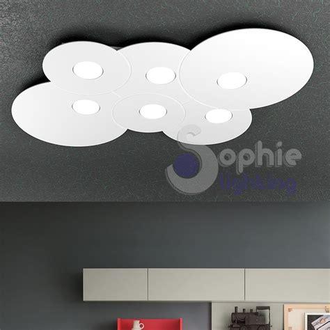plafoniera soffitto led plafoniera ladario soffitto led acciaio bianco design