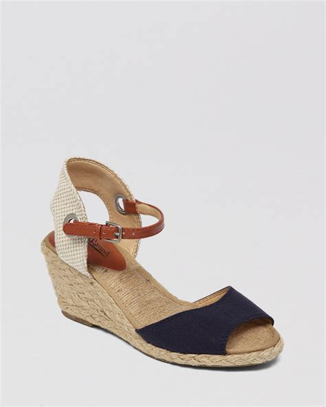 lucky brand wedge sandals lucky brand espadrille wedge sandals kyndra in black lyst