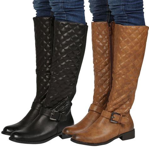 womens wide calf stretch winter knee