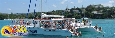 party boat jamaica cool runnings party cruise side excursion in ocho rios
