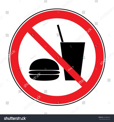 will not eat do not eat drink icon no stock vector 292868954