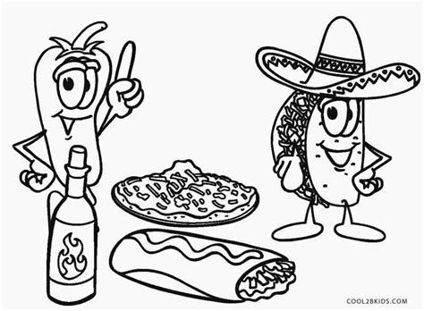 coloring pages mexican food free printable food coloring pages for kids cool2bkids