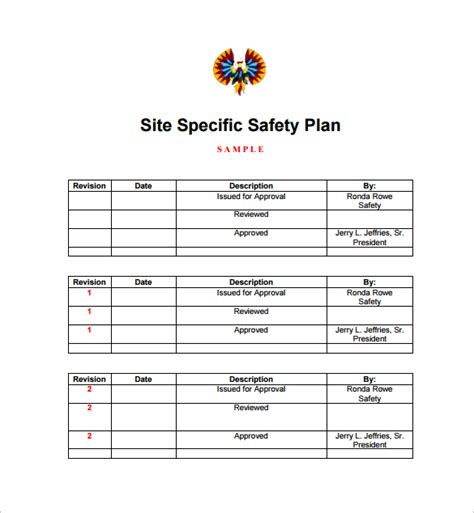 sle safety plan template 10 free sles exles