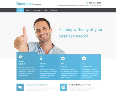 free responsive business website templates 100 best free html css website templates