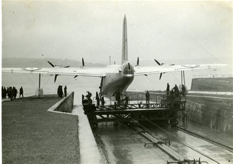 flying boat mount the sunderland flying boats of plymouth submerged