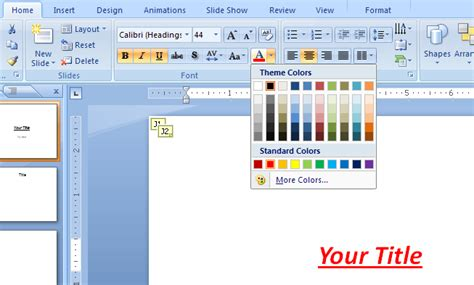 change themes in powerpoint 2007 to change text and text background color font 171 editing