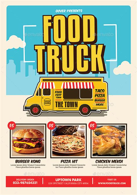 food truck menu template 14 food truck menu designs templates psd ai indesign free premium templates