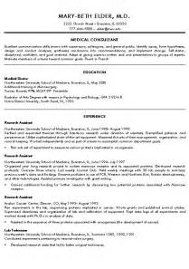 Resume For Doctors doctor resume exle exles and doctor