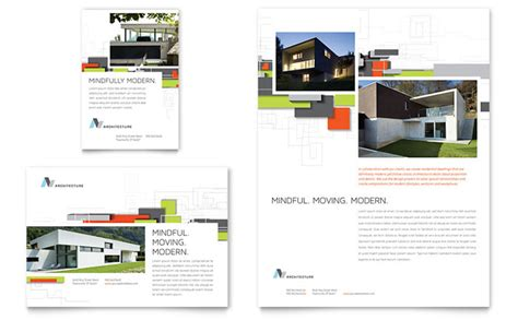 architectural templates architectural design flyer ad template design