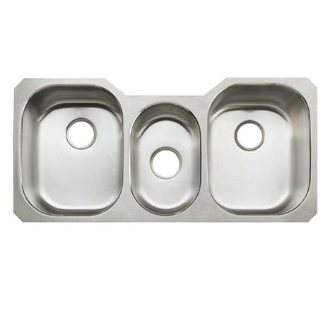 3 bowl stainless steel kitchen sinks stainless steel triple home design ideas and pictures