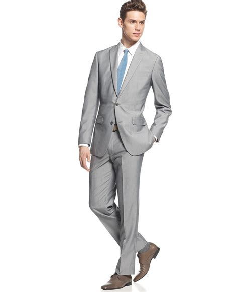 Jaket Pria Vans Bb Two In One mens light grey slim fit suit hardon clothes