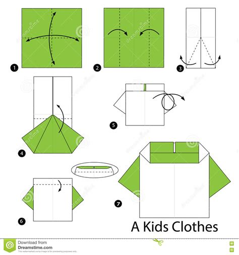 How To Make Clothes From Paper - step by step how to make origami a