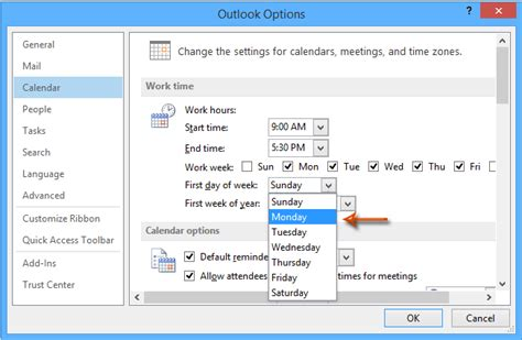 Calendar Printing Assistant For Outlook 2013 How To Show Calendar From Monday To Sunday In Outlook