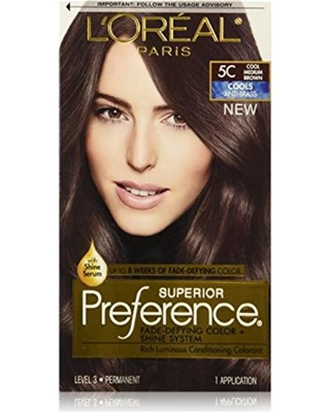 coloring l oreal hair color unique l oreal garnier color sensation 30 2014 24 best of l amazing deal on l or 233 al superior preference permanent hair color 5c cool medium brown