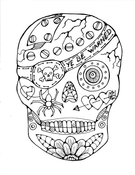 sugar skull coloring page free free printable sugar skull coloring pages az coloring pages