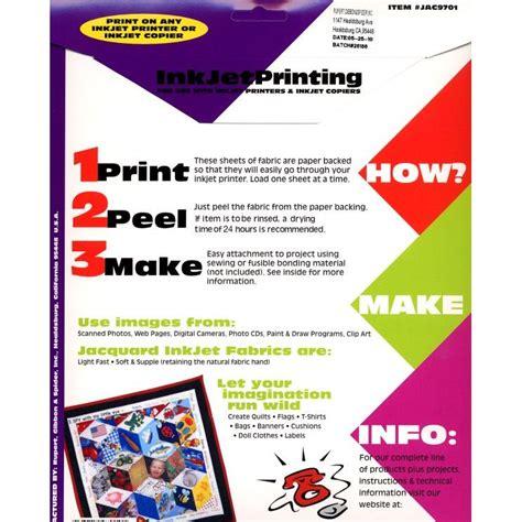 jacquard printable fabric sheets jacquard printable inkjet fabric sheets 8 5 quot x 11 quot 30