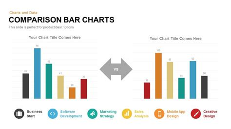 template powerpoint graph comparison bar charts powerpoint keynote template