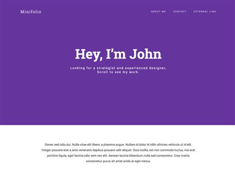 Bootstrap 3 Resume Template by Minifolio Bootstrap Resume Personal Portfolio Template
