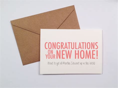 Housewarming Gift Cards - funny housewarming card by saidwithlove on etsy