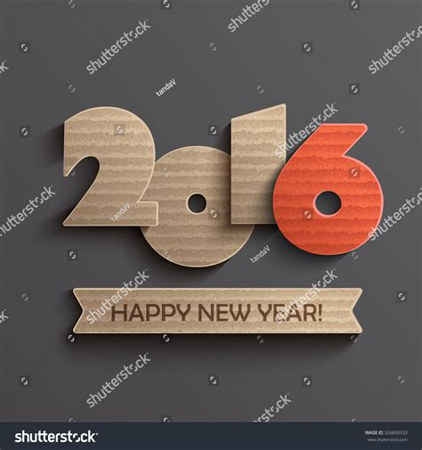 creative happy new year 2016 creative happy new year 2016 design vector 326850533