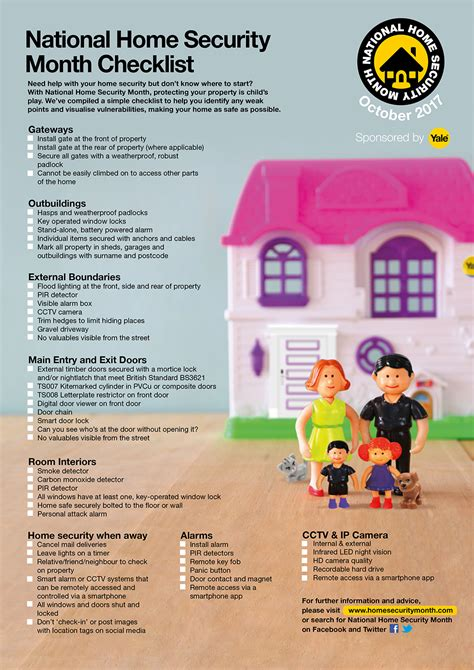 national home security month checklist henry gates