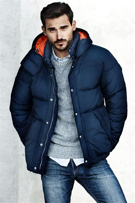 Fancy Hodie Parka Navy winter essential men s winter parka overcoat