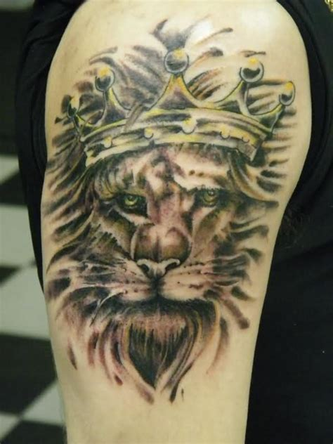 lion with crown tattoo with crown meaning