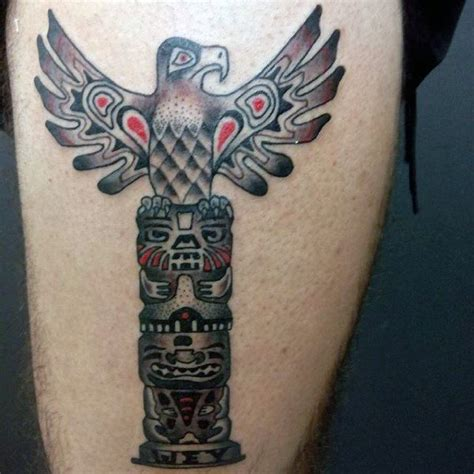 tribal totem pole tattoo designs 70 totem pole designs for carved creation ink