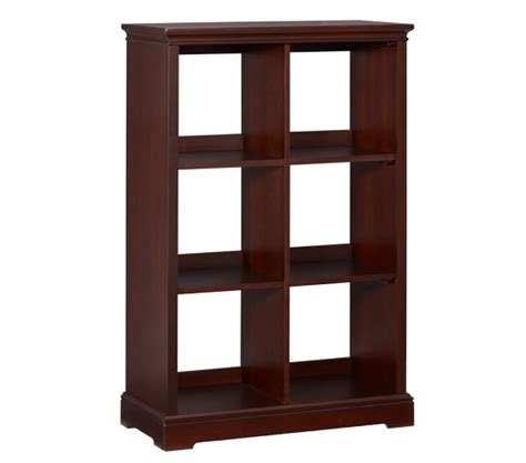 6 cubby bookcase pottery barn