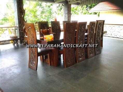Jual Meja Kayu Utuh jual set meja makan kayu utuh kursi majapahit harga murah