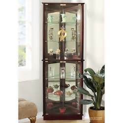 Display Cabinet Not On The High Corner Curio Cabinets Display With Glass Doors