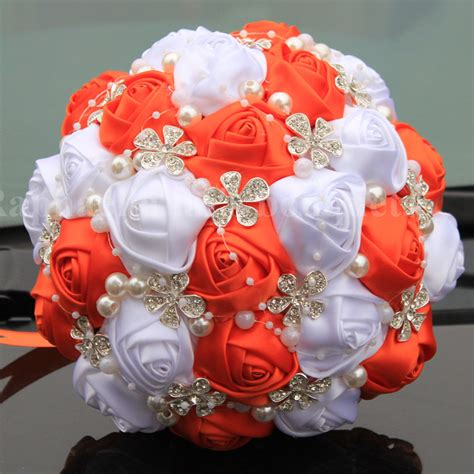 Where To Get Wedding Bouquet by Orange And White Flowers Bouquet