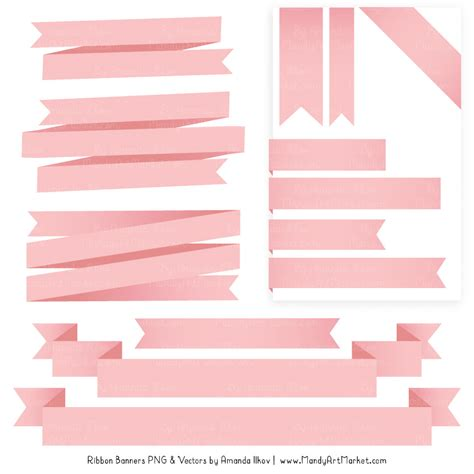 Soft Ribbon by Soft Pink Ribbon Banner Clipart