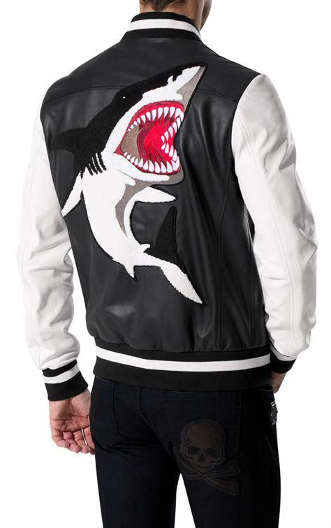 shark jacket philipp plein leather jackets mens shark leather jacket mens leather jackets