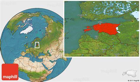 satellite location map  estonia