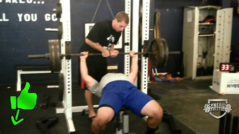405 lb high school football bench press gym record youtube