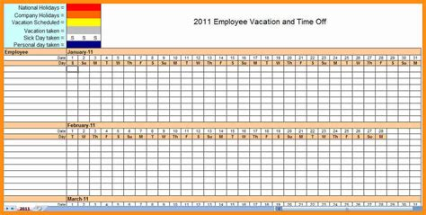 10 blank monthly employee schedule template plan