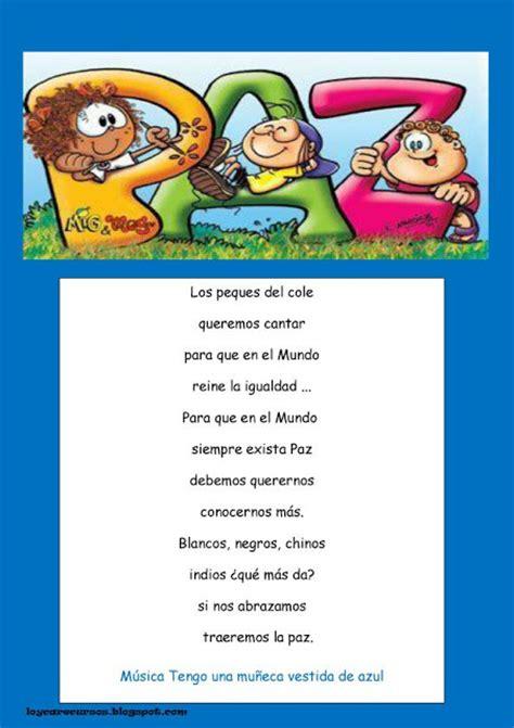poema para un cantante poesias infantiles del dia de la paz