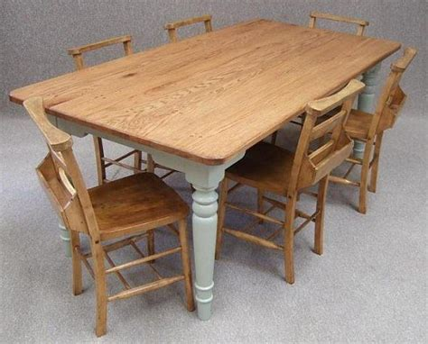 kitchen table with 6 chairs oak farmhouse kitchen table with grey painted