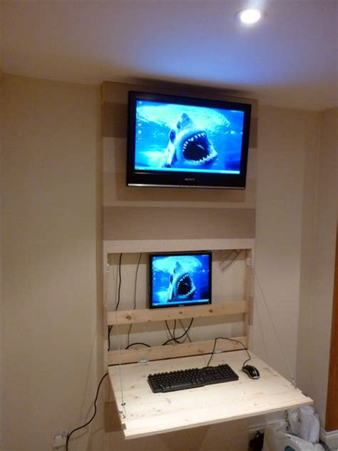 office desk with tv mount the tv wall mount desk hidden pc